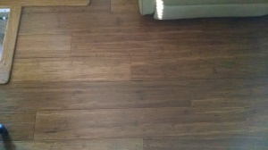 Oak edging with finished bamboo floor